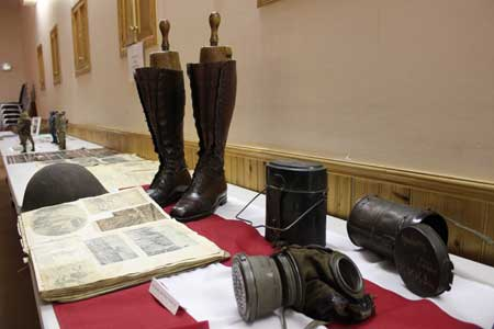 artefacts and some of the historical evidence of the World Wars of the 20th century.   Photo by Celia Hunter