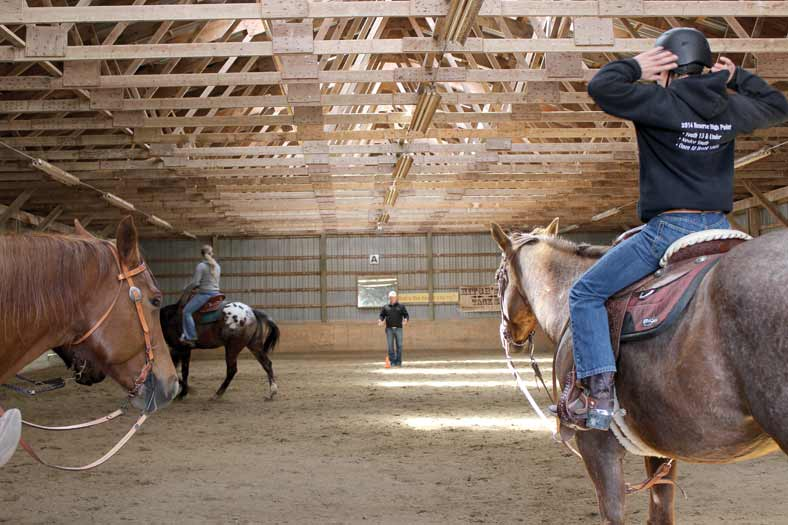 Top Trainer Leads Clinic For Youth Appaloosa Team