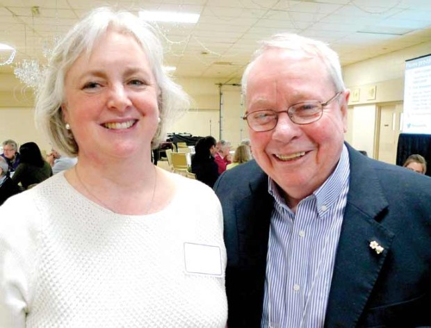 City of Kawartha Lakes Councillor Heather Stauble with Environmental Review Panel Chair David Crombie in Cobourg. Photo: Andy Harjula