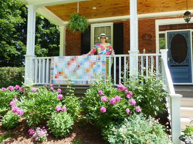 Blocks and Blooms Host Judy Gooch. Photo: Celia Hunter