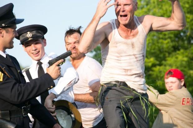 Apprehension of the Bad Luck Bank Robbers. Photo: Wayne Eardley Brookside Studio