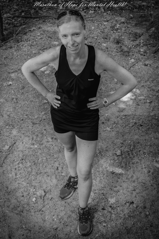 Julie Vallieres will be running a marathon at the end of the month to raise awareness on mental health and help support those who have helped her through her own depression.