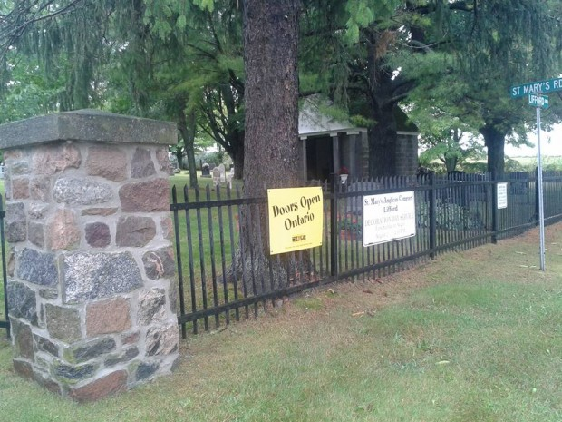 Doors Open signs mark historic sites to discover in Manvers Sunday, Sept. 13. Photo: Sarah Sobanski.