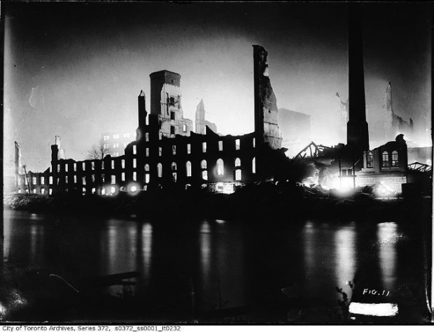Next year's 4th line production entitled The Hero of Hunter Street will outline the events surrounding the 1916 explosion in the Peterborough Quaker Plant resulting in the image above. Photo: Supplied.