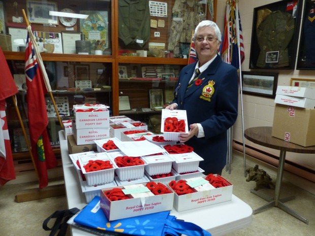 Diann Corfe organizes this year's Poppy campaign. Photo: Karen Graham.