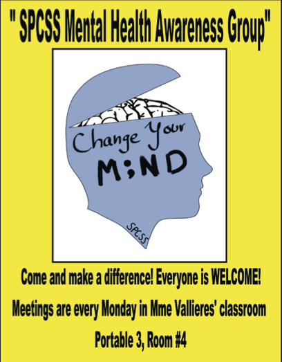 Mental Health poster designed by St. Peter's students. Photo: Supplied.