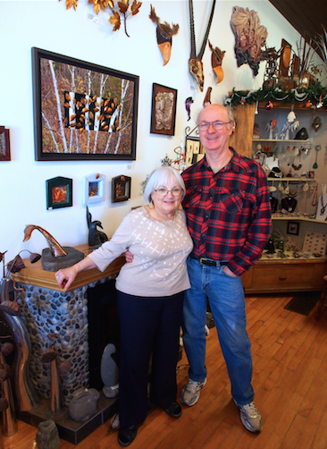 Beverley and Paul Williams in their Bethany studio. Photo: Sarah Sobanski