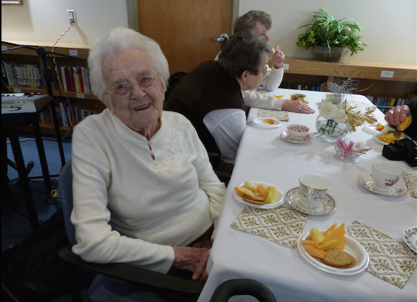 Centennial Place Residents celebrating over 100 years of life!
