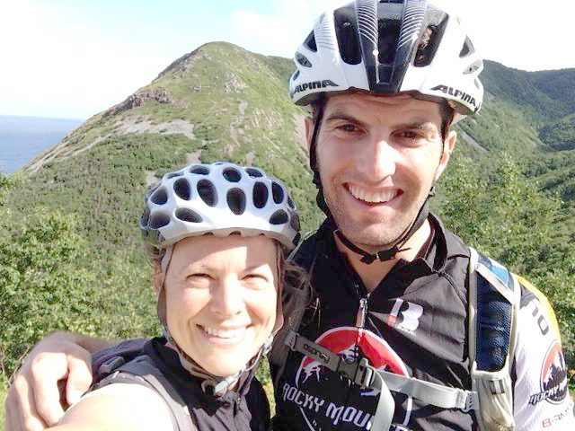 Kevin Calhoun and wife Christie in BC. Photo: Supplied.