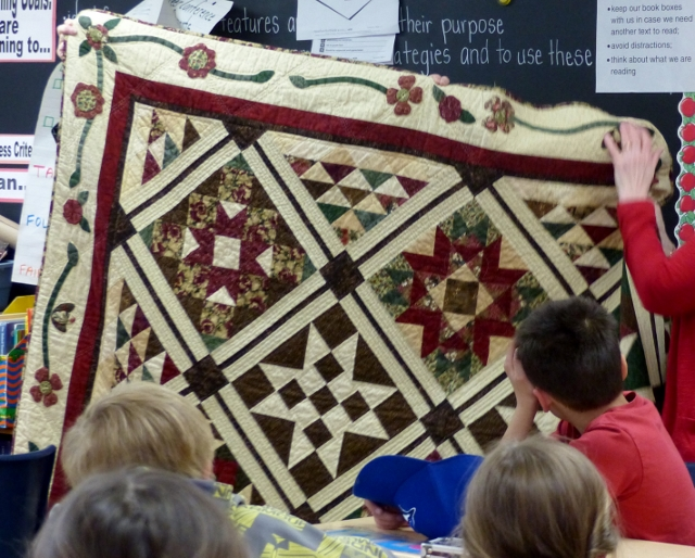 Barn Quilt Trail Project Begins with Students at Millbrook South Cavan School