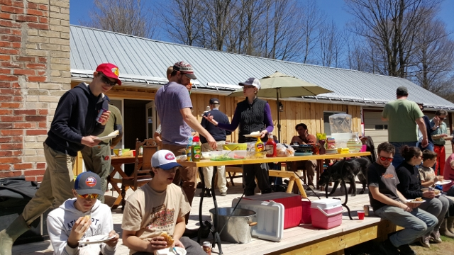Volunteers receive a reward for a job well done. A BBQ in the sunshine greets volunteers after another community clean-up event gets the Millbrook Valley Trails ready for the season