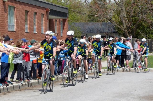 Pedal for Hope riders swoop into Millbrook South Cavan School