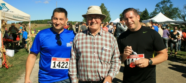 The Cavan Hills Run attracted local residents and dignitaries including MP Jamie Schmale and Fairview Baptist Church Minister Vic Gayed who were ably supervised by run marshal Don Winslow.