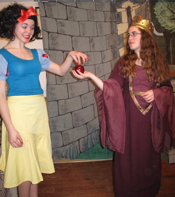 Fun Folk productions allow for creativity on and off stage as shown in the costumes and set from an earlier production of Snow White.