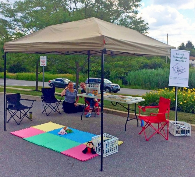 Local library staff have introduced pop-up locations as part of their outreach program.