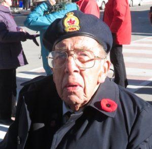 Photo Karen Graham WWII Veteran Clarence Munroe of Cavan