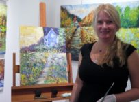 Cold Wax and Oil Blend in Impressionistic Painting Demo at Galerie Q