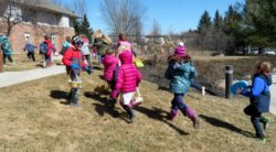 Children Race to find Easter Eggs
