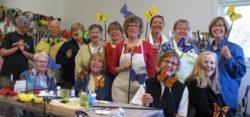 Decorating Committee & Other Volunteers Make Butterflies