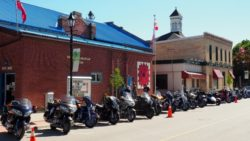 Motorcycles Lined King Street