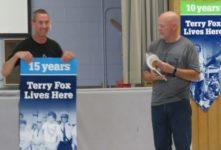 Special Guest Delivers Terry Fox Banner to North Cavan Public School